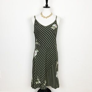 Johnny Was Embroidered Cotton Midi Dress Size S